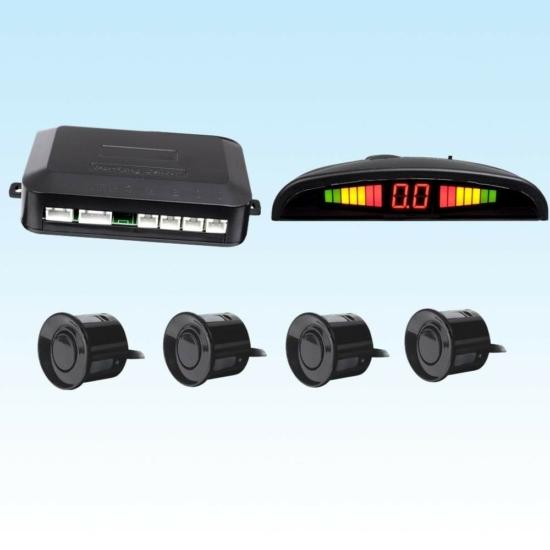Tolatóradar LCD kijelzővel és 4 érzékelővel