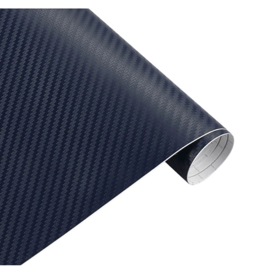 Karbon fólia, autófólia (127 x 15 cm) Kék